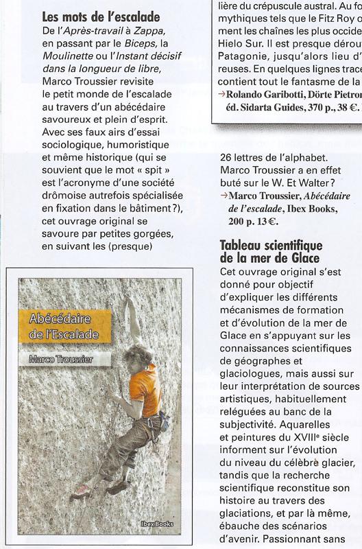 Abécédaire de l'Escalade dans Montagnes Magazine