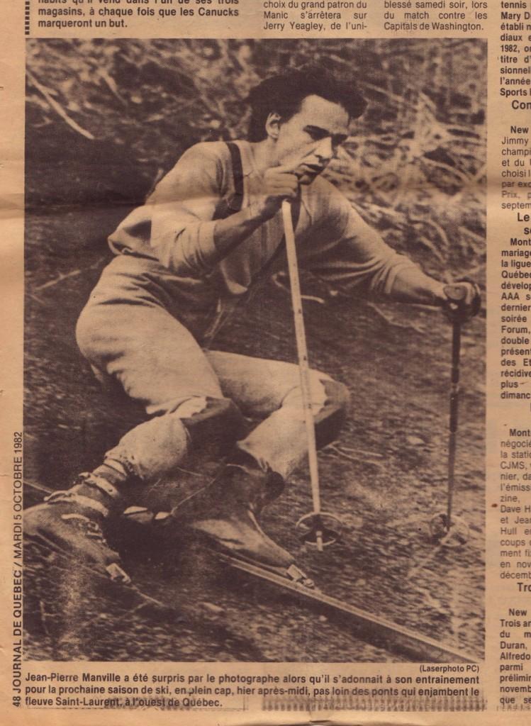 Jean Pierre Banville skie le Cap Diamant en 1982