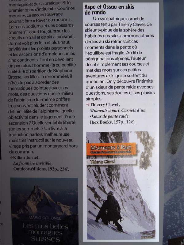 Moments à Part dans Montagnes Magazine