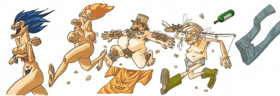 Personnages de la Conquête des Plateaux (illustration Ben Bert)