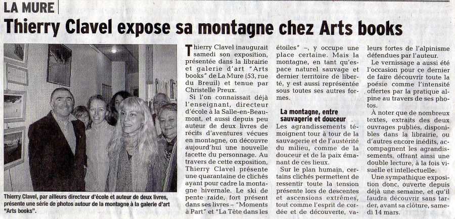 Thierry Clavel expose chez Arts Books