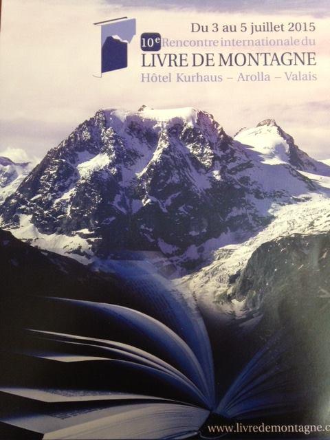 Affiche du salon du livre de montagne d'Arolla