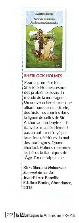 Sherlock Holmes dans La Montagne et Alpinisme