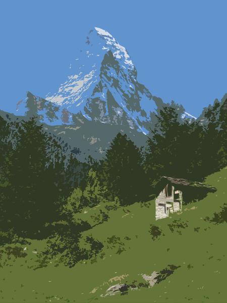 Cervin vu depuis Zermatt
